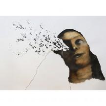 Tonino Mattu, Apostasia dopo Tiziano, 2014, Carboncino, pastello e inchiostro su carta, 51x73